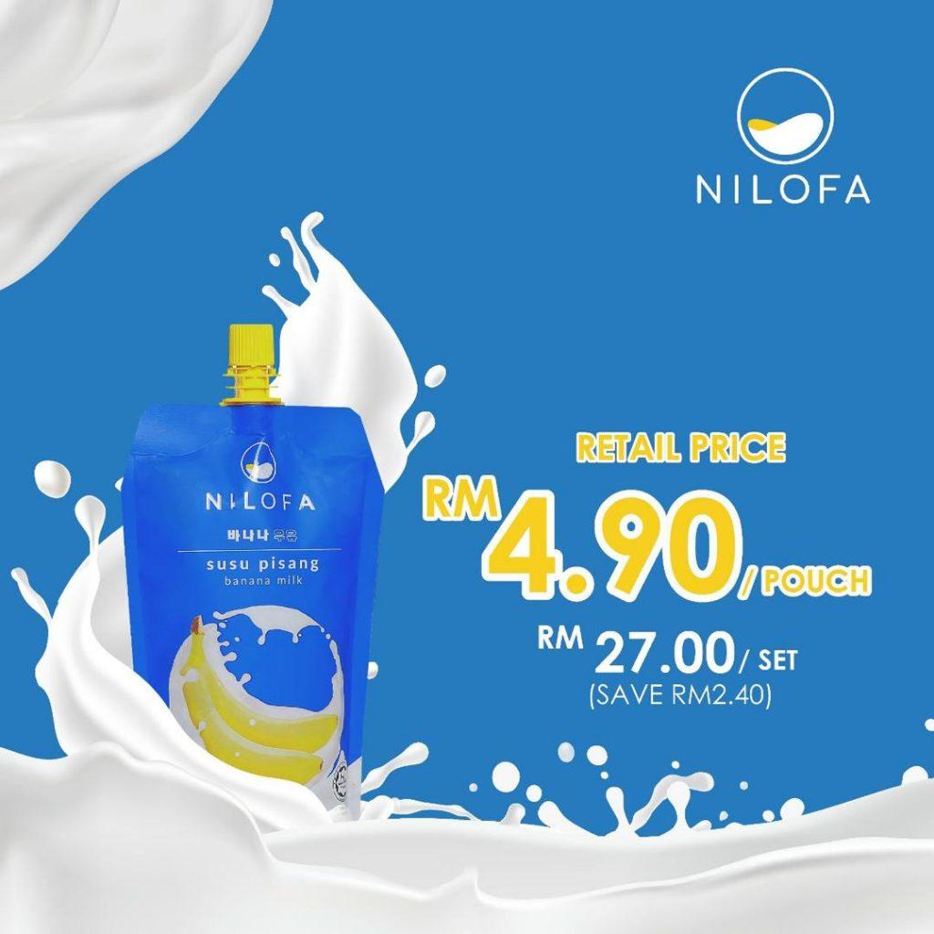 harga nilofa banana milk